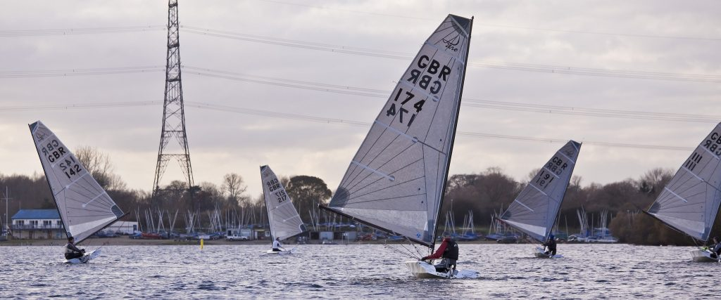 Close racing at the Burghfield SC Winter Sprint Championship. Photo Copyright Mike Proven